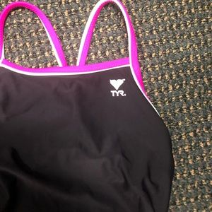 TYR Swim - TYR one piece swim suit reversible two colors